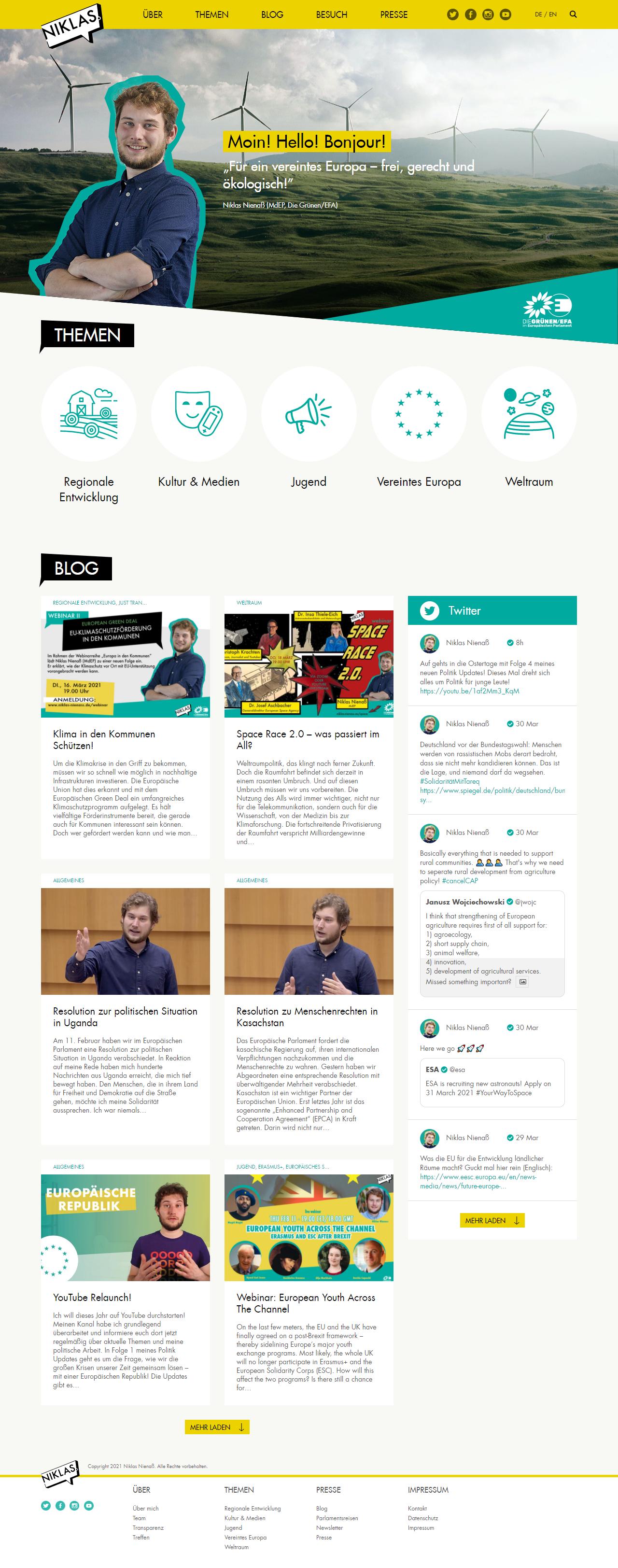 Niklas Nienass website screenshot