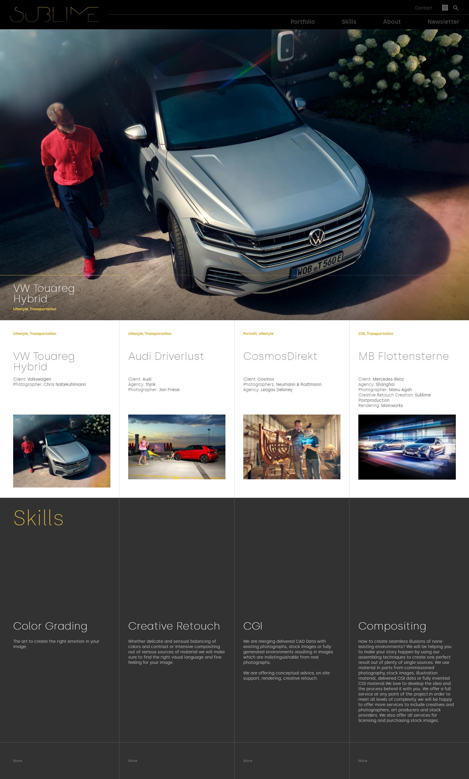 Sublime Postproduction website screenshot